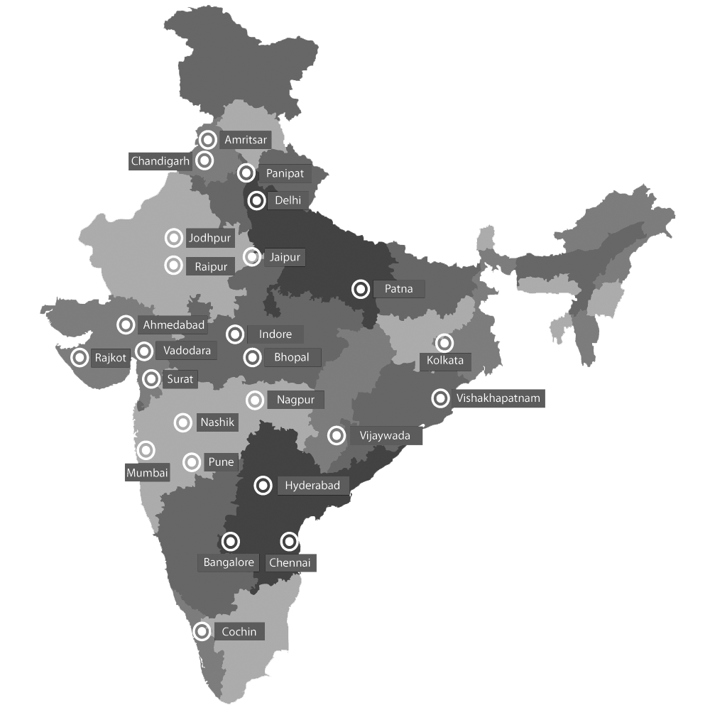 Our locations in India